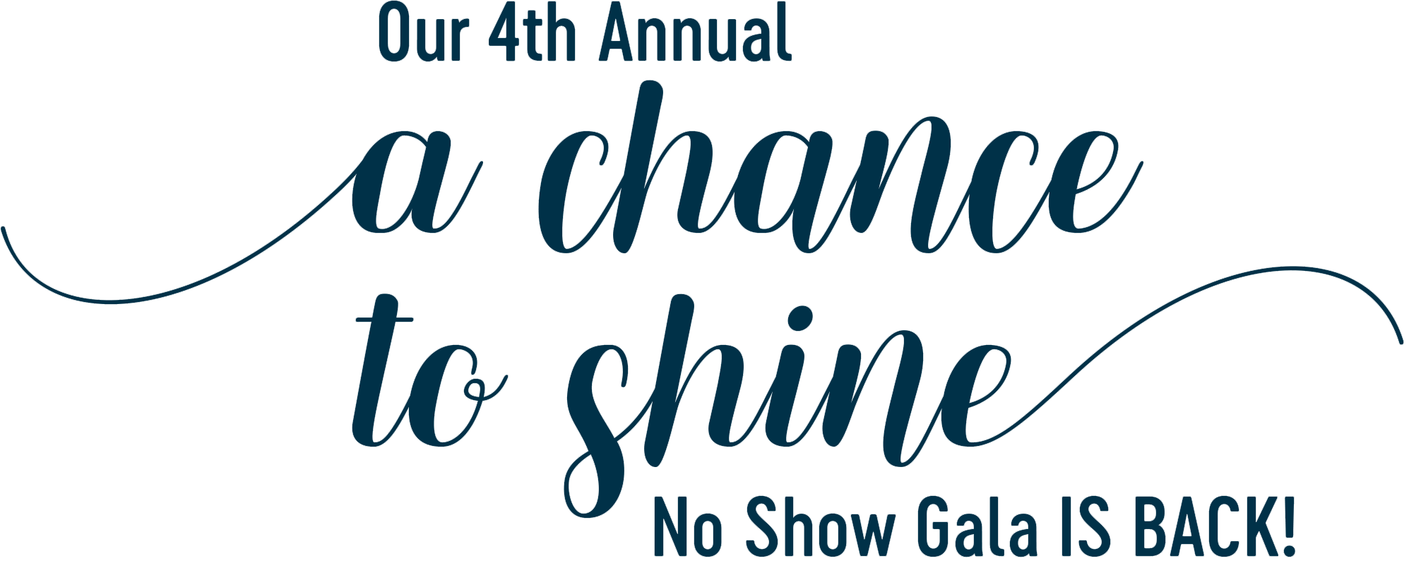 Our 4th Annual A Chance To Shine No Show Gala is back!